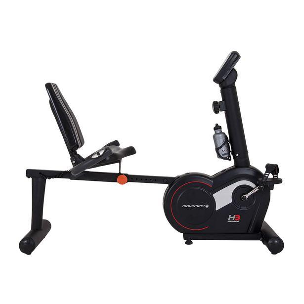 Oferta de Bicicleta Ergométrica Magnética Horizontal MOVEMENT 8 Níveis de Esforço H3 Preta por R$5089