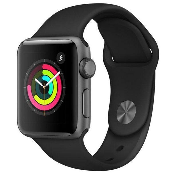 Oferta de Apple Watch Series 3, 38 mm, Alumínio Cinza Espacial, Pulseira Esportiva Preto e Fecho Clássico - MTF02BZ/A por R$1998,08