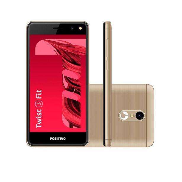 Oferta de Smartphone Positivo Twist 3 Fit S509C 32GB Android Oreo Tela 5¿ Câmera 5MP Dual Sim Quad Core 1.3GHz ¿ Dourado por R$593,9