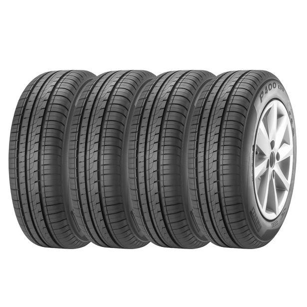 Oferta de Kit 4 Pneus Aro 14 175/70R14 Pirelli P400 EVO por R$1291,05