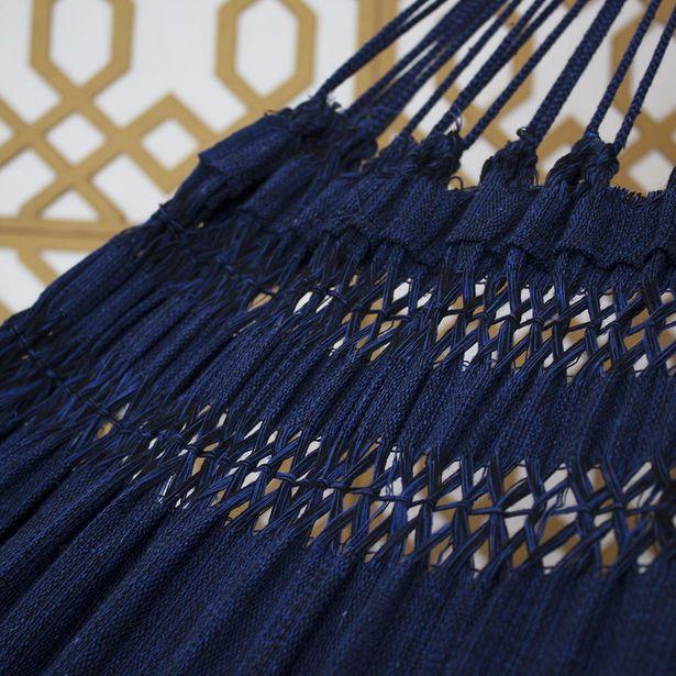 Oferta de Rede de Dormir Jeans Mesclado Azul com Preto por R$79,9