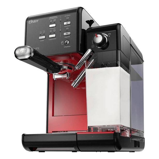 Oferta de Cafeteira Expresso Oster PrimaLatte BVSTEM6701B-017 Preta e Vermelha 110V por R$928,9