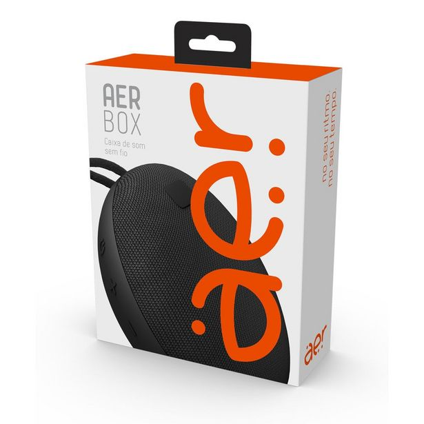 Oferta de Caixa de Som Aerbox sem fio AER By Preto 1 UN Geonav por R$229,8