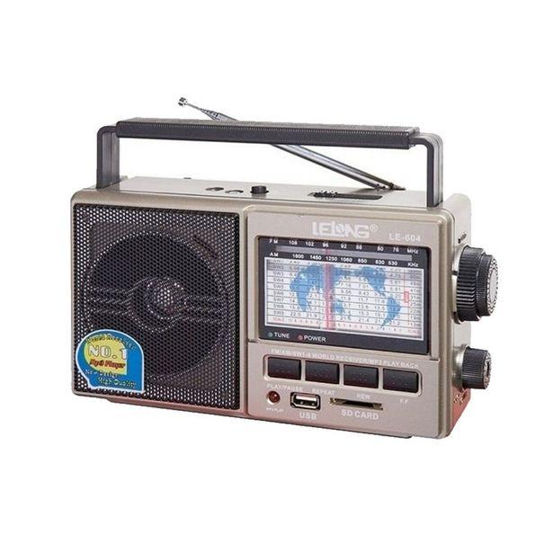 Oferta de Rádio AM/FM 11 Bandas Entrada Pendrive Cartão de Memória LE-604 por R$119,9