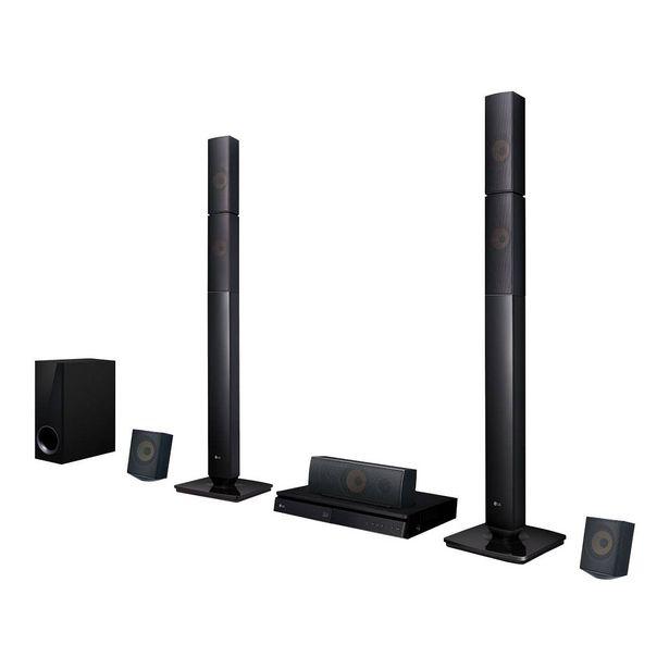 Oferta de Home Theater LG LHB645N Full HD com Blu-Ray 3D Bluetooth 5.1 Canais, Sound Sync Wireless 1000W por R$1599