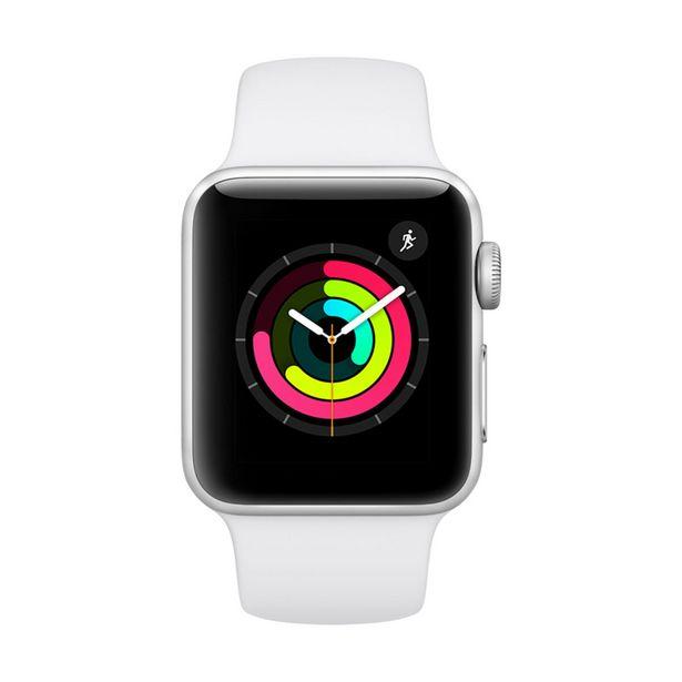 Oferta de Apple Watch Series 3 GPS - 38mm - Caixa prateada de alumínio com pulseira esportiva branca por R$1998,08