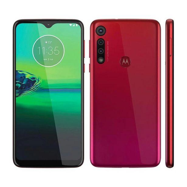 Oferta de Smartphone Motorola Moto G8 Play Vermelho Magenta 32Gb por R$1299