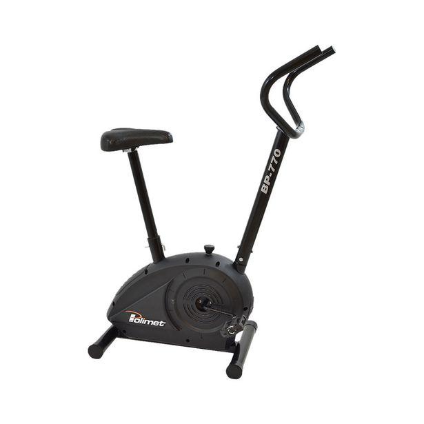 Oferta de Bicicleta Ergométrica Mecânica Vertical Polimet Manual BP-770 Preta por R$399,9