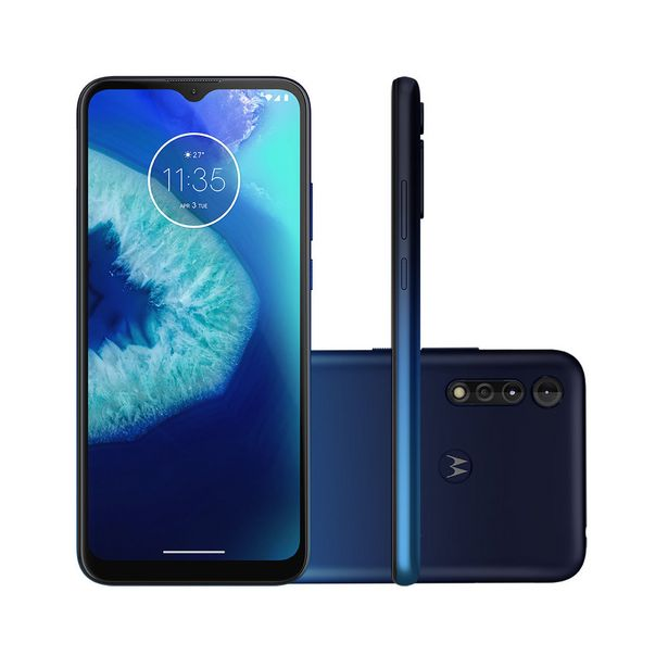 Oferta de Smartphone Motorola Moto G8 Power Lite 64GB Azul Navy Tela 6.5 Pol. Câmera Tripla 16MP Selfie 8MP Android 9.0 por R$1287,78