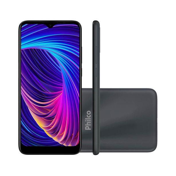 """Oferta de Smartphone Philco HIT P10 128GB Space Grey 4G Tela 6.2"""" Câmera Tripla 13MP Selfie 8MP Dual Chip Android 10.0 por R$1076,67"""