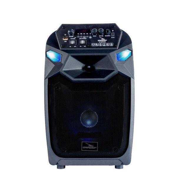 Oferta de Caixa De Som Bluetooth Com Microfone Recarregável Grasep por R$650