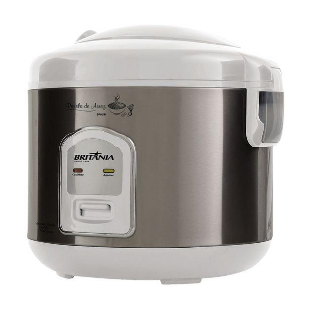 Oferta de Panela Elétrica de Arroz Britânia 5 Xícaras BPA5BI Branca 220V por R$99,97