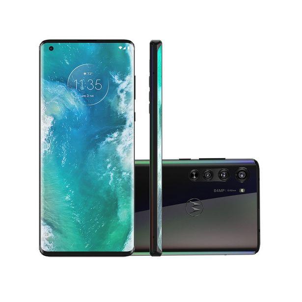 Oferta de Smartphone Motorola Edge 128GB Solar Black 5G Tela 6.6 Pol. Câmera Tripla 64MP Selfie 25MP Android 10.0 por R$2999