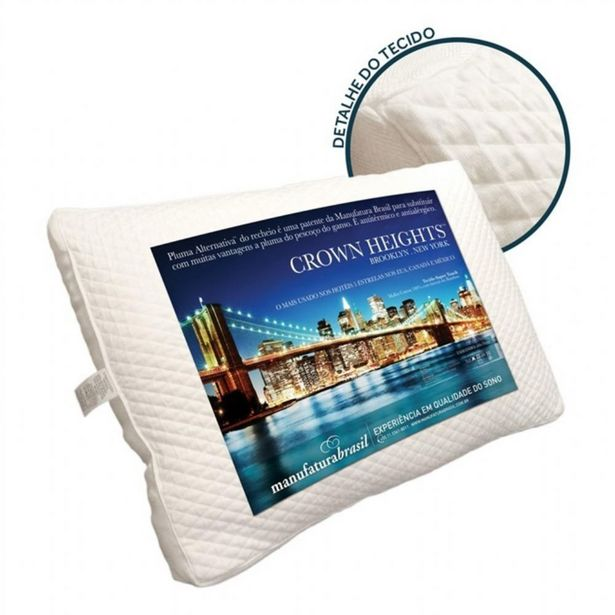 Oferta de Travesseiro Manufatura Brasil Manufatura Crown Heights - 50x70 por R$139,9
