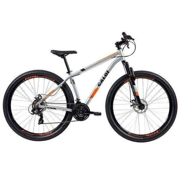 Oferta de Bicicleta MTB Caloi Two Niner Alloy Aro 29 - Sunrun - 21 Velocidades - Prata por R$1669