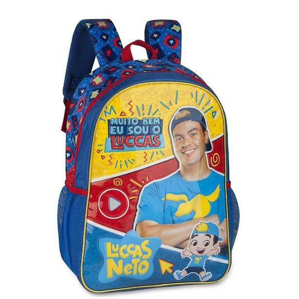 Oferta de Mochila Escolar Clio Style Lucas Netto Azul LN9008J - Azul - UNICO por R$132,99