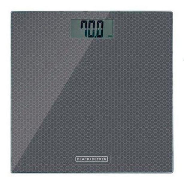 Oferta de Balança de Banheiro Black Decker BK40-BR até 180kg por R$194,3