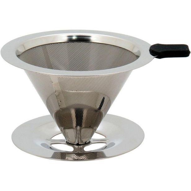 Oferta de Filtro Café Inox Prata Filter 9X14X12Cm por R$244,9