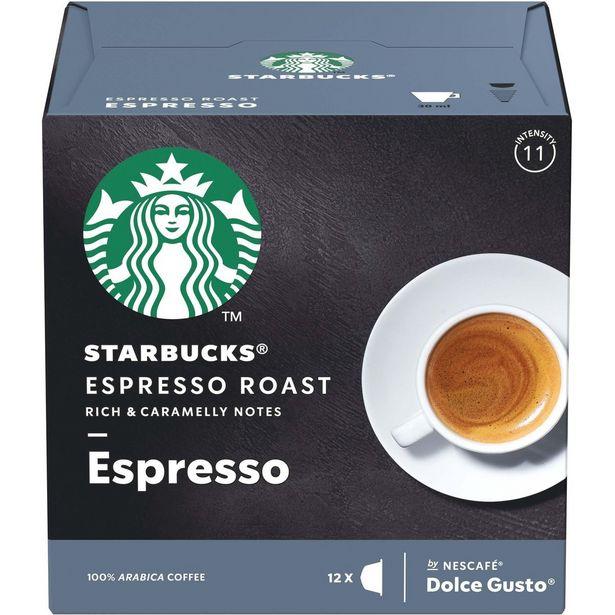 Oferta de Café em Cápsula STARBUCKS NESCAFÉ DOLCE GUSTO Espresso Roast 12 Cápsulas por R$24,5