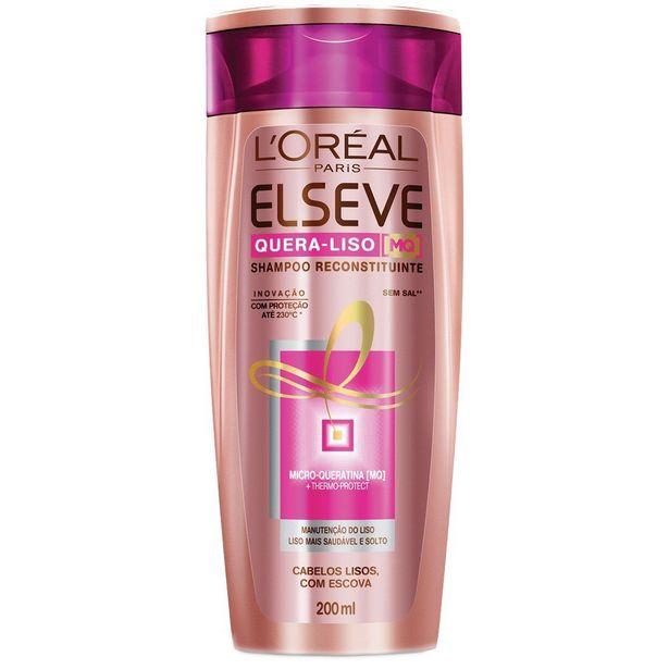 Oferta de Shampoo ELSEVE Quera Liso 200ml por R$15,25