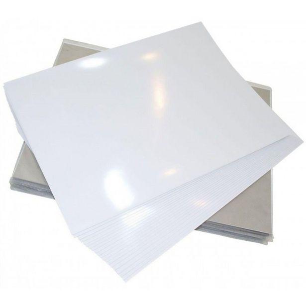 Oferta de Papel Fotográfico A4 Dupla Face 220g Glossy Branco Brilhante Mundoware 20 folhas por R$16,5