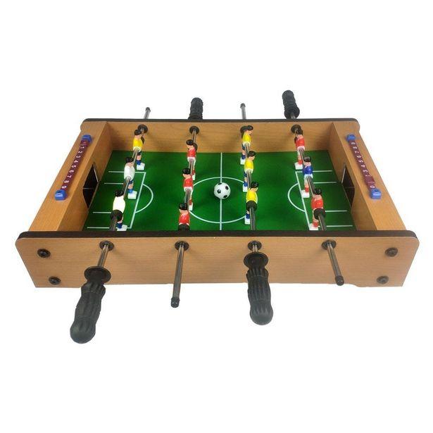 Oferta de Mini Mesa de Pebolim Jogo de Futebol Totó com 12 Jogadores 2 Bolas e Placar de Pontuação por R$155,75