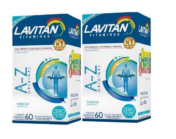 Oferta de Kit 02 Lavitan AZ Homem 60 Comprimidos por R$35,99