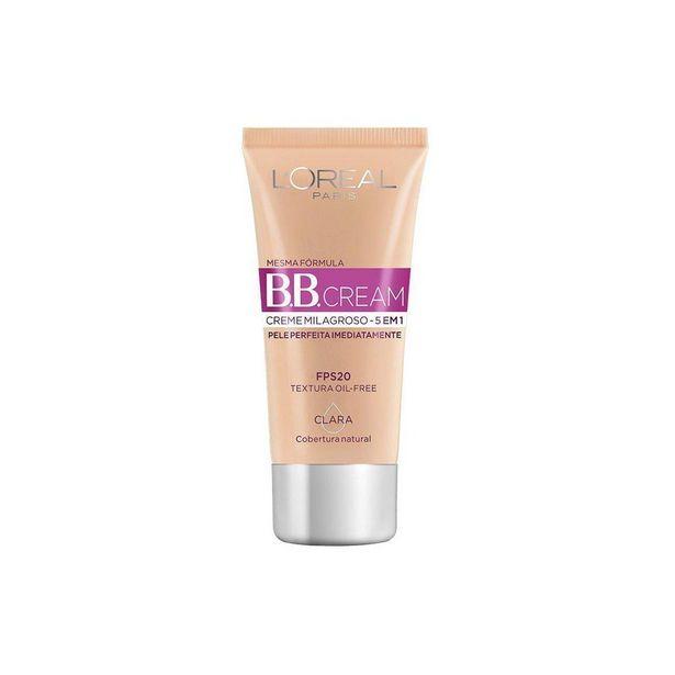 Oferta de Base BB Cream 5 em 1 FPS20 L'Oréal Paris - Cor Clara 30ml por R$44,79