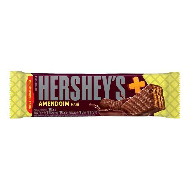Oferta de Chocolate HERSHEY'S + Amendoim Maní 102g por R$4,29
