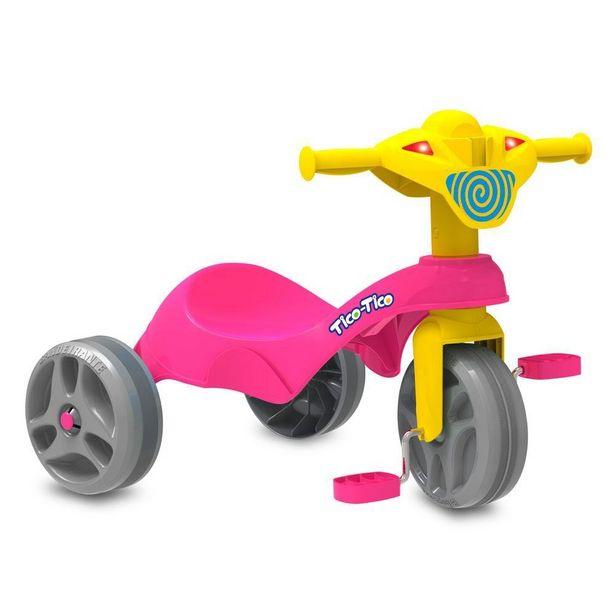 Oferta de Triciclo Tico-Tico Club Rosa - Bandeirante por R$129,99