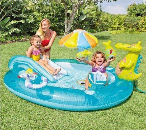Oferta de Piscina Inflável Playground 160 Litros Jacaré - Intex por R$499,99