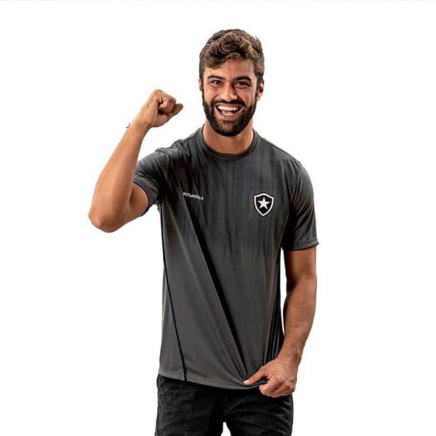 Oferta de Camisa Botafogo Dribble Masculina Cinza - Cinza - M por R$74,5