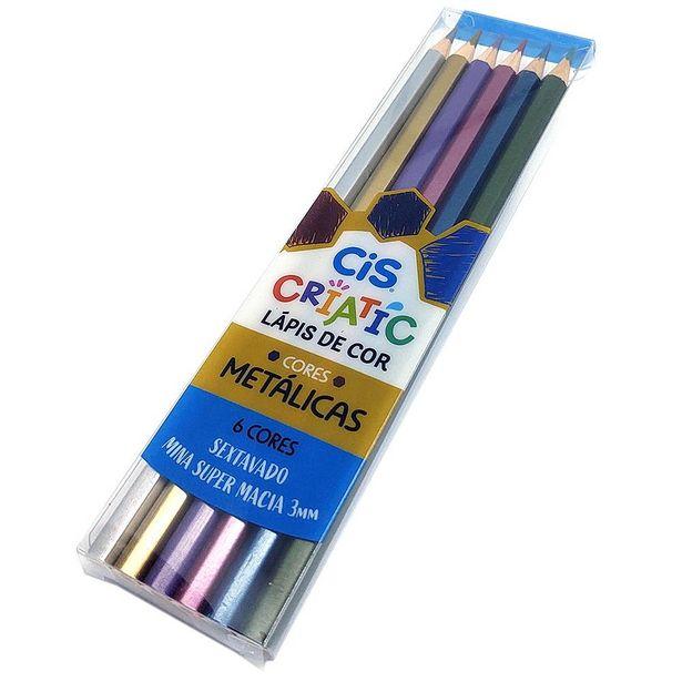 Oferta de Lápis de Cor Criatic Cores Metálicas CiS - 6 Cores por R$16,4