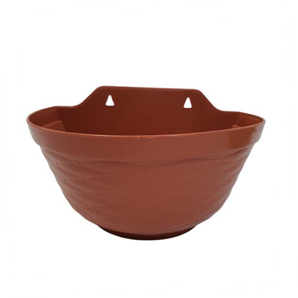 Oferta de Vaso de Parede 28 x 18 cm Terracota por R$17,9