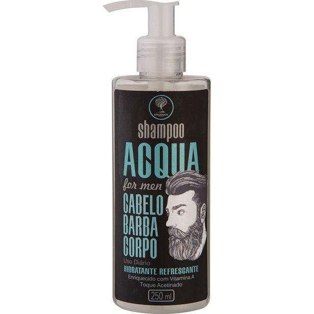 Oferta de Shampoo Orgânica Acqua For Men 3 Em 1 250ml por R$31,99