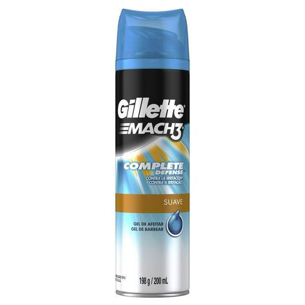 Oferta de Gel de Barbear Gillette Mach3 Complete Defense Hidratante 198g por R$30,49
