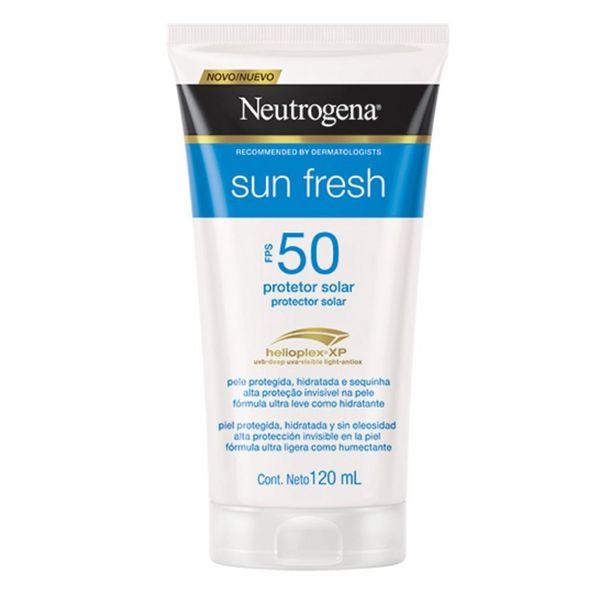 Oferta de Protetor Solar Neutrogena Sun Fresh FPS 50 120ml por R$48,9