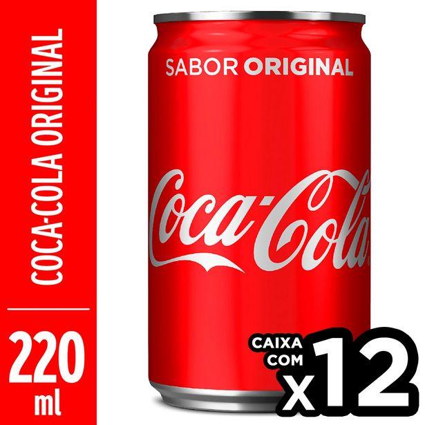 Oferta de Refrigerante COCA COLA Mini Lata 220ml com 12 Unidades por R$17,88