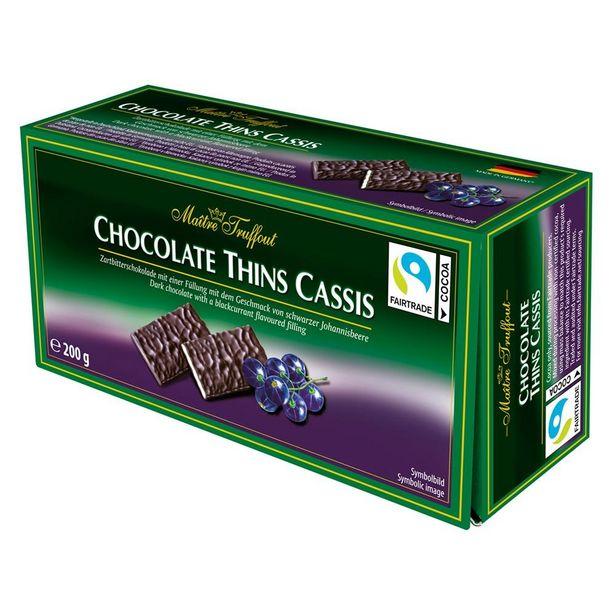 Oferta de Chocolate Amargo Com Recheio Cremoso de Cassis 200g por R$34,9