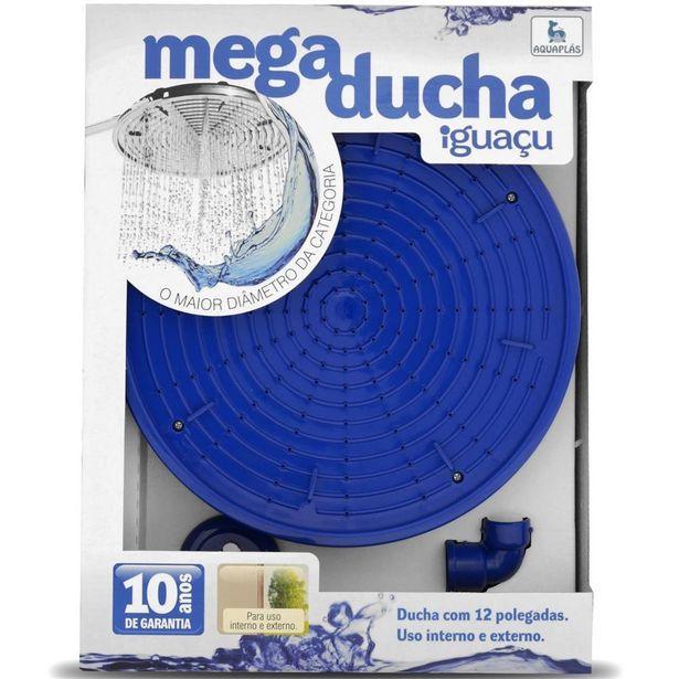 Oferta de Mega Ducha de Parede Iguaçu 12´´ Azul por R$289,99