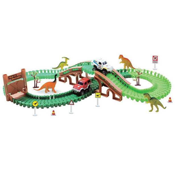 Oferta de Pista com Carrinho - Trilha dos Dinossauros - Braskit por R$168,63