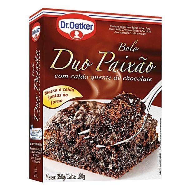 Oferta de Mistura para Bolo Sabor Chocolate com Calda Duo Paixão Dr. OETKER Caixa 530g por R$11,49