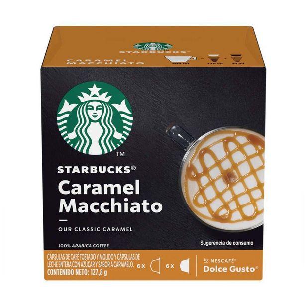Oferta de Café em Cápsula STARBUCKS NESCAFÉ DOLCE GUSTO Caramel Macchiato 12 Cápsulas por R$24,5