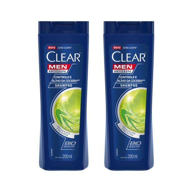 Oferta de Kit Clear com 2 Shampoo Anticaspa Clear Sports Frasco 200ml por R$35,98