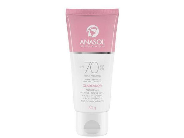 Oferta de Protetor Facial Anasol Fps 70 Protetor Toque Seco por R$59,99