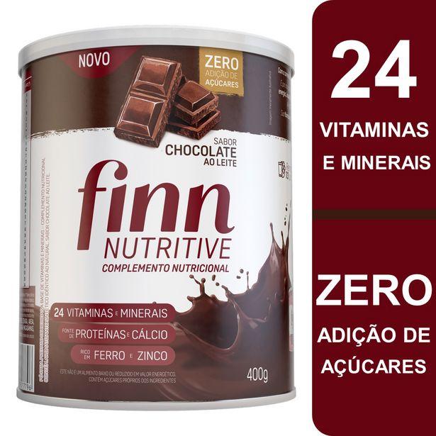 Oferta de Complemeto Alimentar Finn Nutritive Sabor Chocolate ao Leite Lata 400g por R$45,99