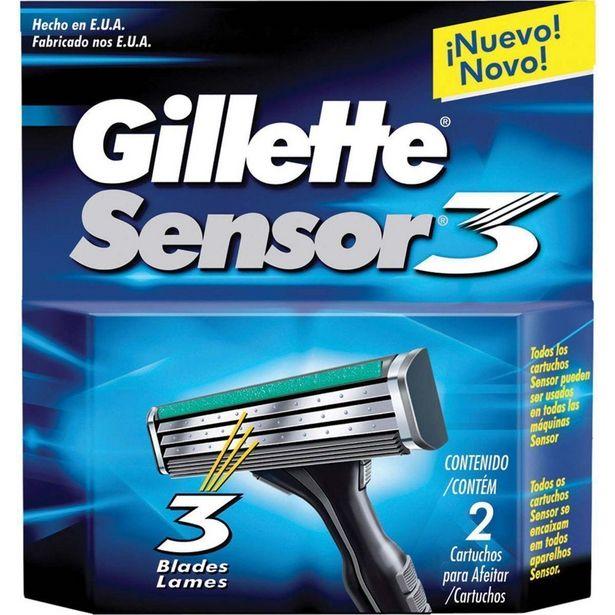Oferta de Carga GILLETTE Sensor 3 com 2 Unidades por R$28,79