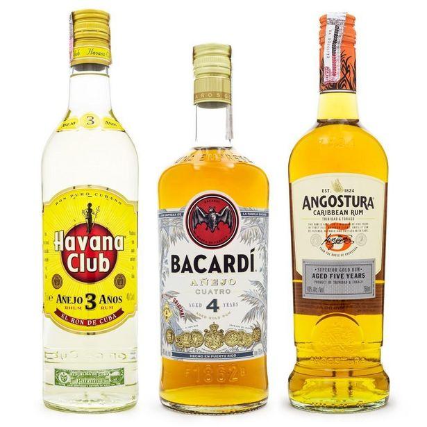 Oferta de Kit Rum 3 4 5 Anos - Havana Club 3 Anos + Bacardi 4 Anos + Angostura 5 Anos por R$489,88