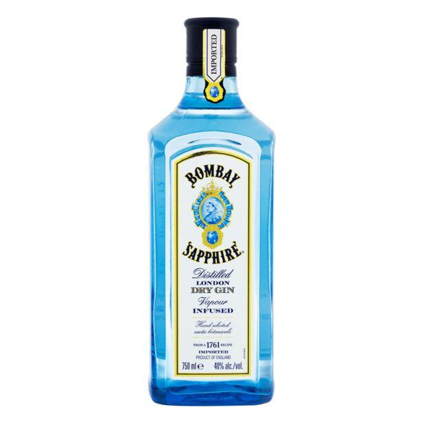 Oferta de Gin Bombay Sapphire 750ml por R$145,99