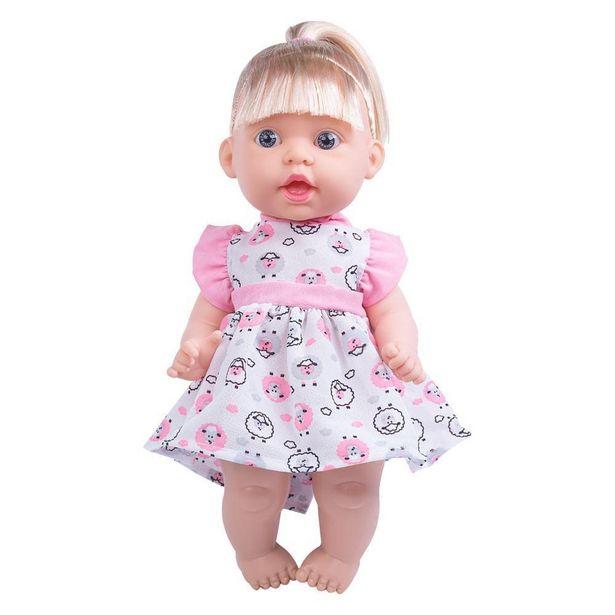 Oferta de Sonho Azul Frases Boneca Bebê Vestido de Ovelhas - Cotiplás por R$59,99